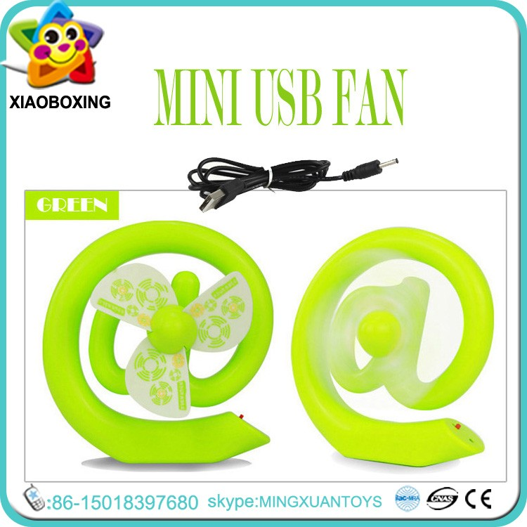 New product low power consumption E shape table fan toys for sale