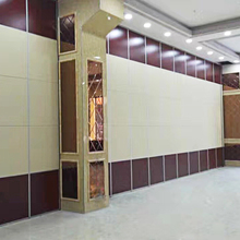 Folding Acoustic Movable Partition Walls Panels For Star Hotel In China