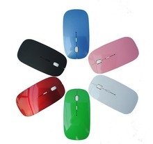 Custom Logo Ultra Thin 2.4ghz Wireless Notebook Optical Mouse for Laptop