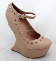 Fashion wedge style ladies beautiful wedge shoes
