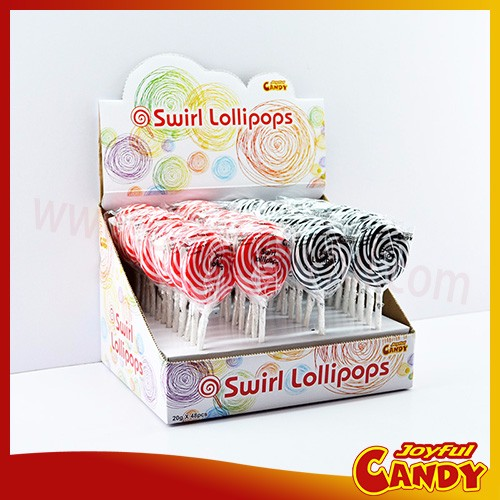 Assorted swirl pops rainbow lollipop for Christmas