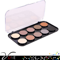 beauty cosmetics 10 colors glitter eyeshadow with private label cosmetics makeup eyeshadow