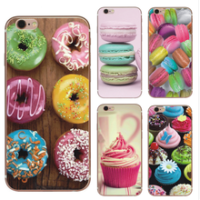 Hotsell Macaron Donuts Cupcake Rainbow Food Pattern phone case For iPhone X 8 8 Plus 7 7 plus 6 6s Plus SE phone case cover
