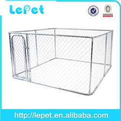 10x10x6 foot classic galvanized outdoor dog kennel/10x10x6ft dog cages metal/dog kennel wholesale