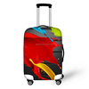Creative Color Printed Luggage Cover Spandex Travel Suitcase Protective Cover