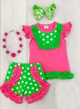 hot sell polka dots wholesale children clothes in stock