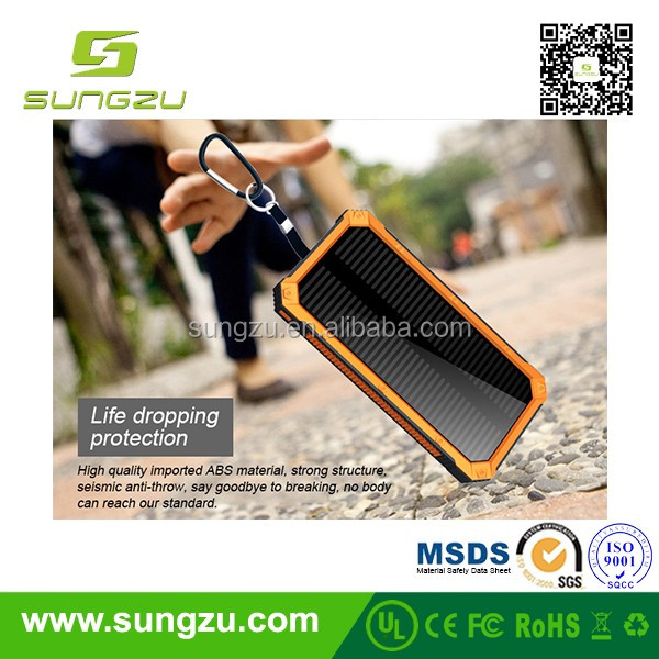 Outdoor solar powered power bank with best price/waterproof duct proof charger