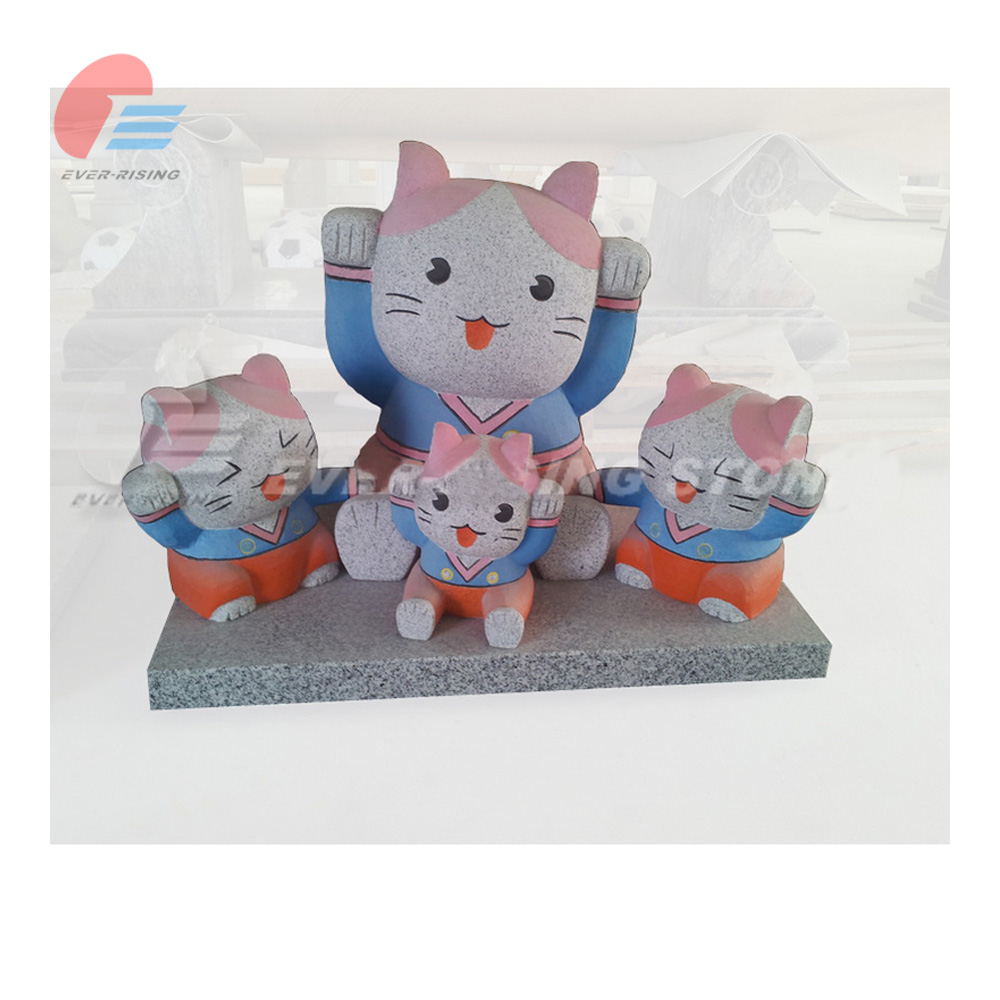 china grey granite Lucky Cat Sculpture