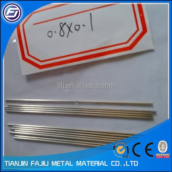 TIG welded Bright Polished 304/316 stainless steel capillary tube/tubing for industrial use