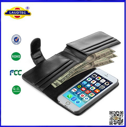 Luxury Multi-function Wallet Leather Flip Case Cellphone Case Cover for Iphone 6 ---------Laudtec