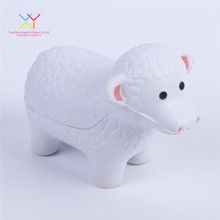 Cute pu foam promotional gift sheep shape animal stress ball