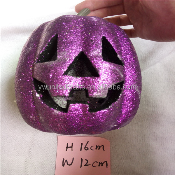 2016 Halloween item personalize led artificial pumpkins to decorate