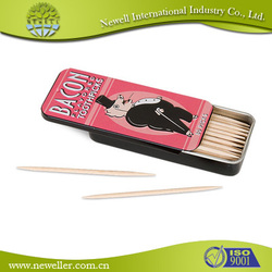 2015 HOT SELLING custom disposable hotel toothpick best quality tube packed bamboo toothpicks