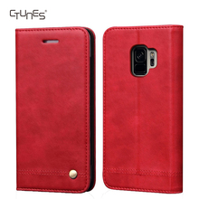 CTUNES Premium PU Leather Flip Fold Wallet Kickstand ID Credit Card Slot Phone Case for Samsung Galaxy S9