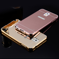 2016 factory supply Bling plating mirror makeup back hard phone case for Samsung Galaxy note 3
