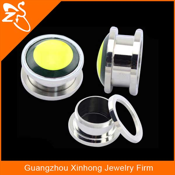 wholesale fashion jewelry stainless steel ear plug machine body piercing kit sale