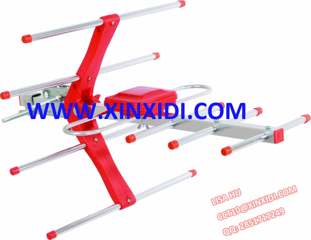 Red color UHF Outdoor Antenna HD-228C4 - Mini foldable reflector
