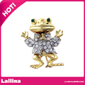 Ribbon Bow Tie Toad Brooch Pin Insect Clear Rhinestone Fashion Jewelry Gold Frog Brooches