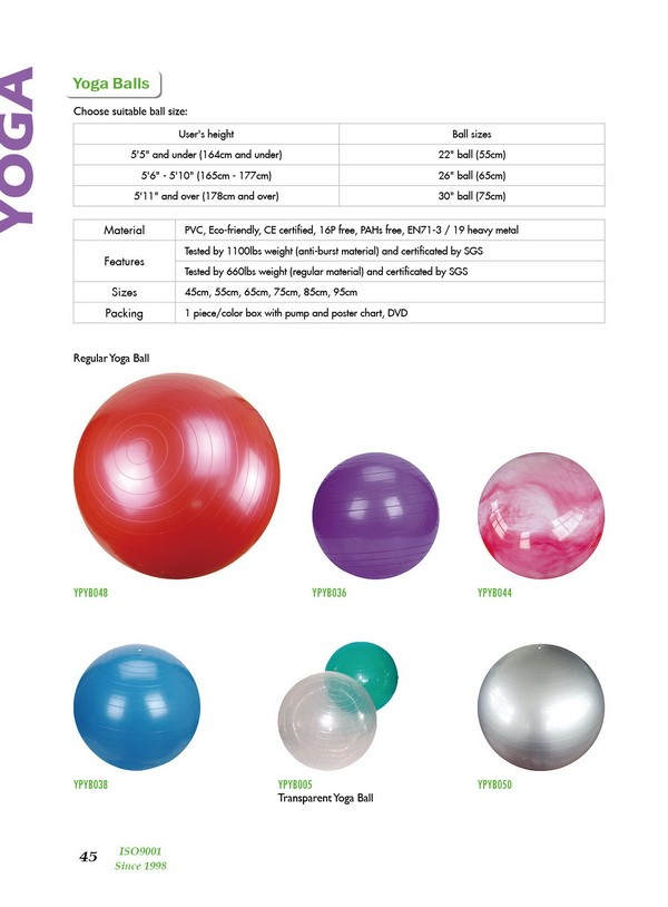 Zhensheng high quality yoga ball with cover