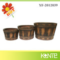 Tree Bark Decorative Fiber glass cement Flower Pot Waterproof Cup