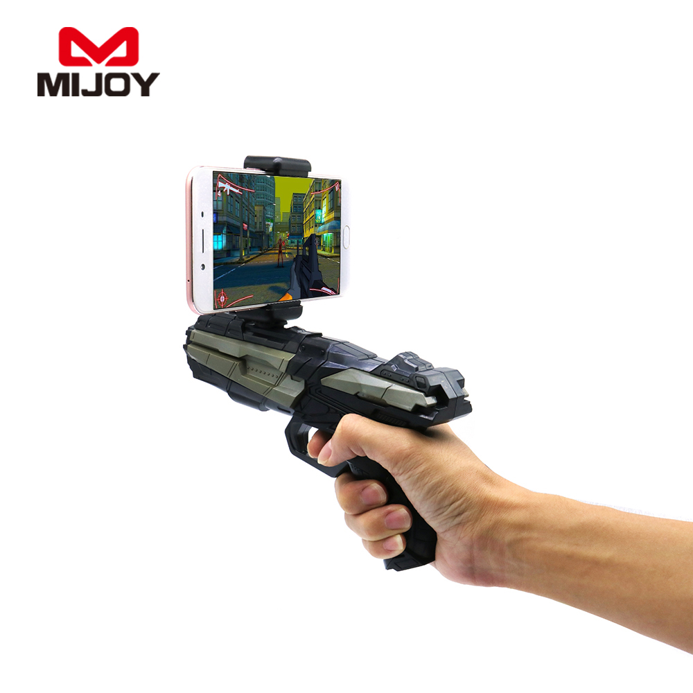 2017 Portable Gift Hot Sales Bluetooth Ar gun ABS Plastic Game Gun With Reality Experience