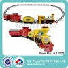 14PCS electric smoking plastic orbit train toy