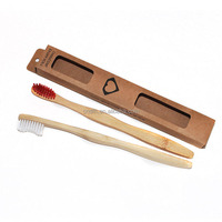 FDA approved bamboo child disposable mini toothbrush with paste for hotels