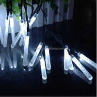 Super bright hanging lamp quality waterproof christmas yard decor 30led ice bar shape solar lights
