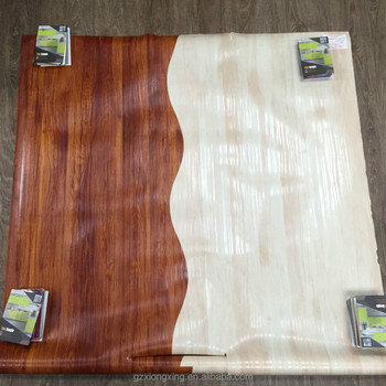 Matt wood grain pvc film of india double color