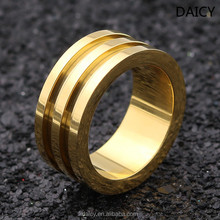 DAICY simple top quality big wide Groove titanium ring core