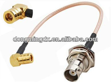 RF Pigtail BNC female to SMB male Right Angle COAXIAL Cable RG316