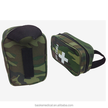 Camouflage style mini sized basic camping first aid kit/camping survival kit