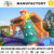 Outdoor inflatable chrismas obstacle course, inflatable bouncers for amusement park
