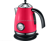 Red color Stainless Steel Electric Kettle with thermometer SB-BO4E