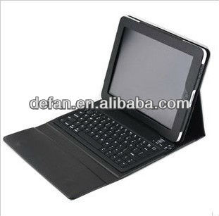 Mobile wireless bluetooth keyboard for ipad2 with leather case cover