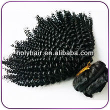 Unprocessed virgin Malaysian curly hair 8A Malaysian afro kinky curly sew in hair weave