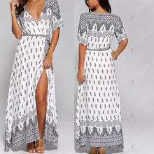 Digital printed fashion dresses online wholesale clothing women maxi dress