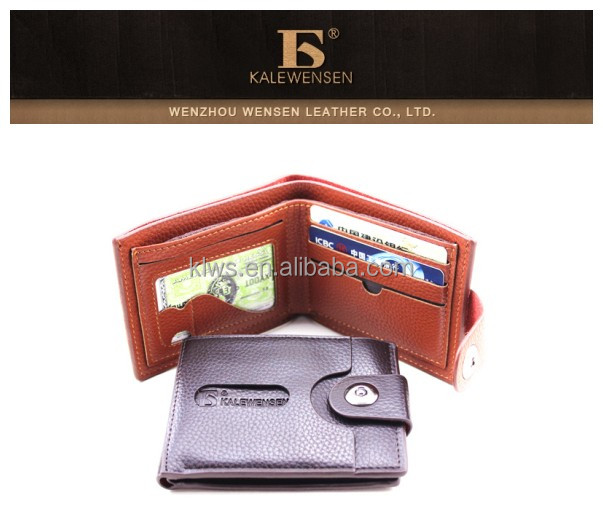 men's PU wallet big space wallet