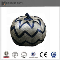 Halloween polyresin silver pumpkin decoration