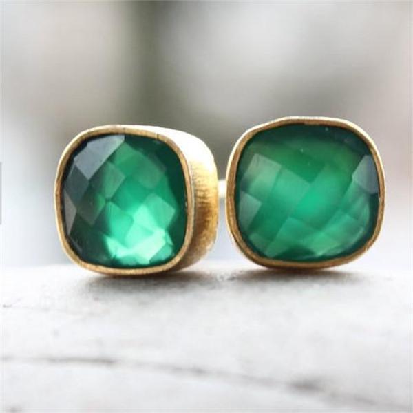 Latón joyería pendiente de oro diseños diamante Stud pendientes ...