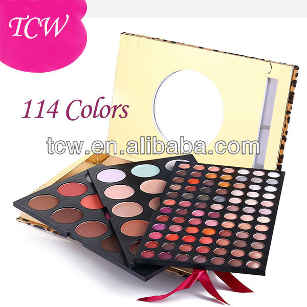114Colors Full Eye Makeup,Full makeup Kit,matte and shimmer cosmetics makeup sets