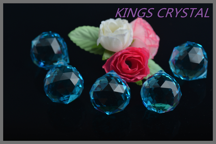 High quality faceted crystal balls for chandelier