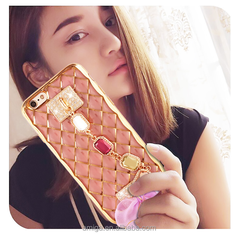 for iphone 6 case luxury crystal bling hard mobile phone diamond cover