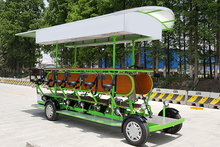 Long Warranty Customized Color 15 Passengers 15 Seats Four Wheel Tandem Pedal Electric Party Pub Crawls Bar Beer Bike