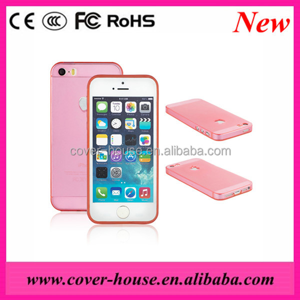 New design Ultrathin TPU+PC Case for Apple iPhone5G/5S Cellphone case for iPhone5