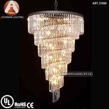 Contemporary Style Spiral Crystal Chandelier