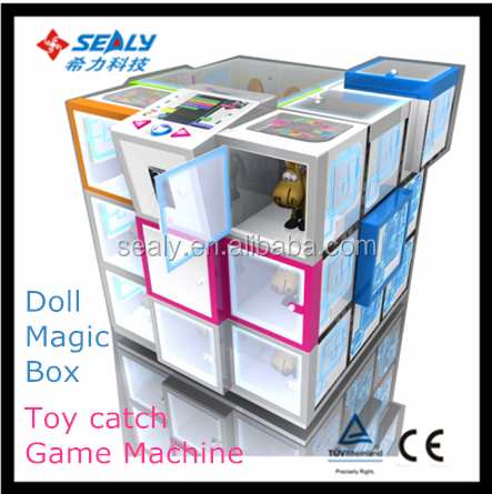 2 Month EARN COST!2016 Hot Sale New Kids Small Magic Cube Box Vedio Game Prize Toy Gift Vending Machine
