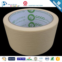 2016 hot selling brown crepe paper masking hotmelt/rubber tape no residue