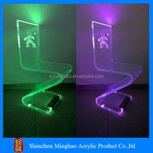 2015 Moden house design transparent LED acrylic dining room chair furniture
