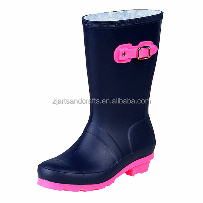 Classic half pvc ladies waterproof brand jelly boots rain boots for women